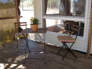 gezellig zitje op de porche